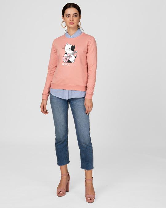 Shop Meowsic Fleece Light Sweatshirt-Design