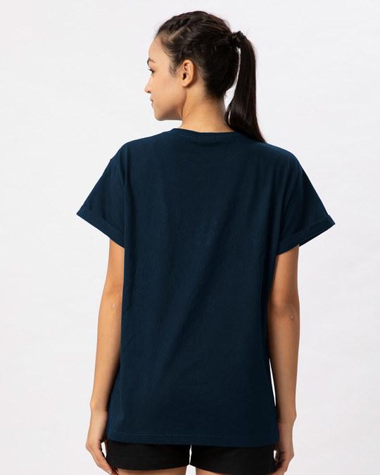 Shop Merged Mickey Boyfriend T-Shirt (DL) (GID)-Back