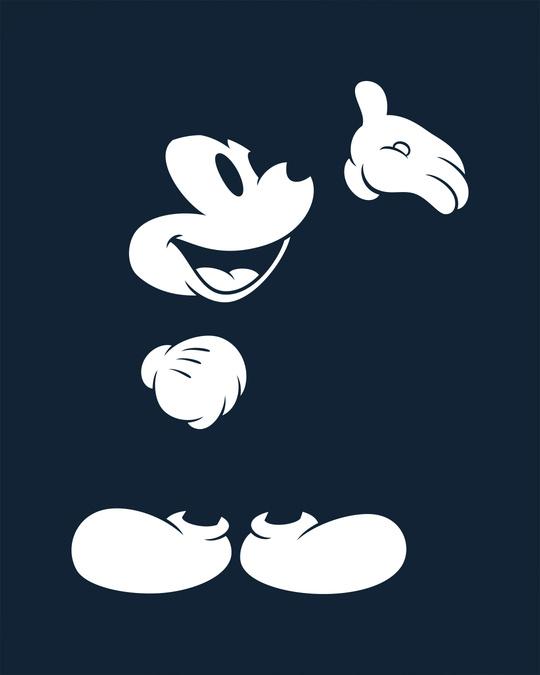 Shop Merged Mickey Glow In Dark Full Sleeve T-Shirt (DL) -Full