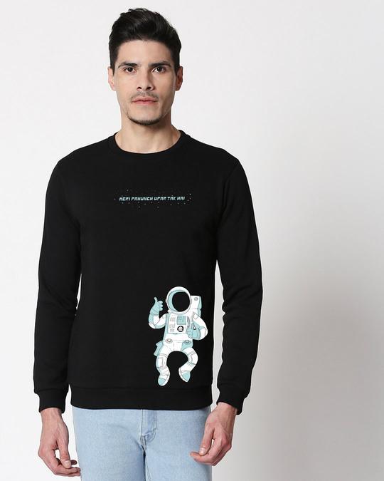Shop Meri Pahunch Fleece Sweater Black-Front
