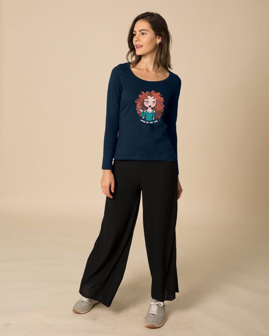 Shop Merida Woke Up Like This Scoop Neck Full Sleeve T-Shirt (DL)-Design