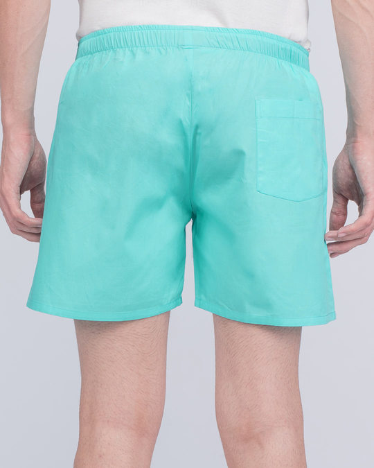 Shop Merlin Blue Plain Boxer-Design
