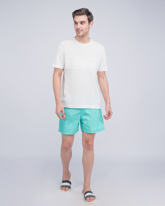 Shop Merlin Blue Plain Boxer-Full