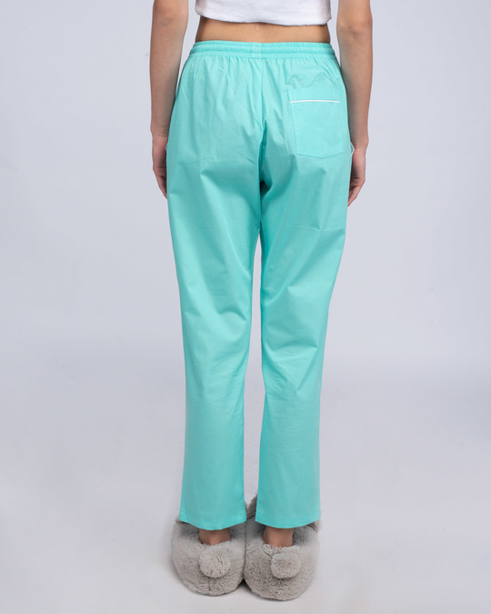Shop Merlin Blue Plain Pyjama-Back