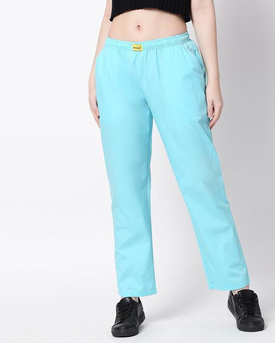 Shop Merlin Blue Plain Pyjama-Front