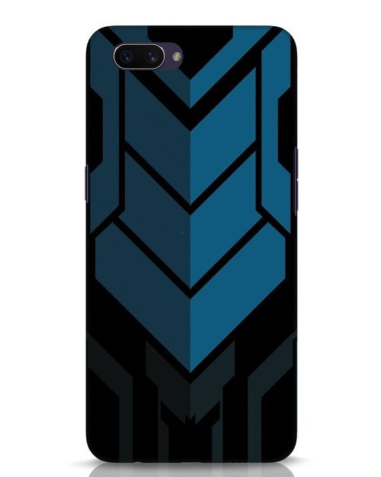 Shop Metal Gear Blue Oppo A3S Mobile Cover-Front