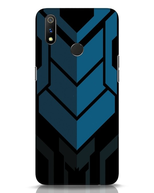 Shop Metal Gear Blue Realme 3 Pro Mobile Cover-Front