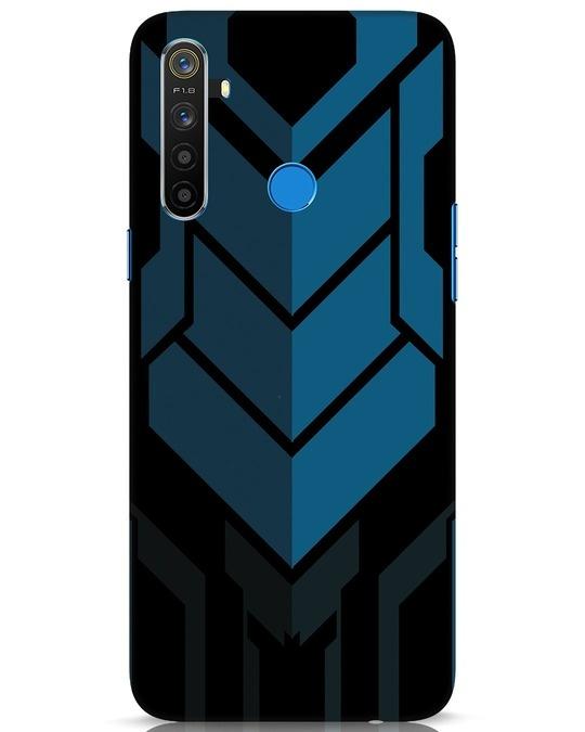 Shop Metal Gear Blue Realme 5 Mobile Cover-Front
