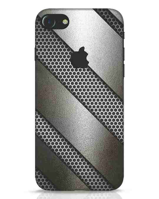 Shop Metal iPhone 7 Logo Cut Mobile Cover-Front