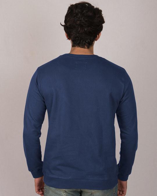 Shop Metallic Batman Glow In Dark Fleece Light Sweatshirt (BML)-Back