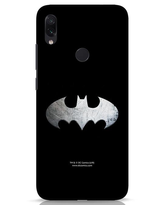 Shop Metallic Batman Xiaomi Redmi Note 7s Mobile Cover (BML)-Front