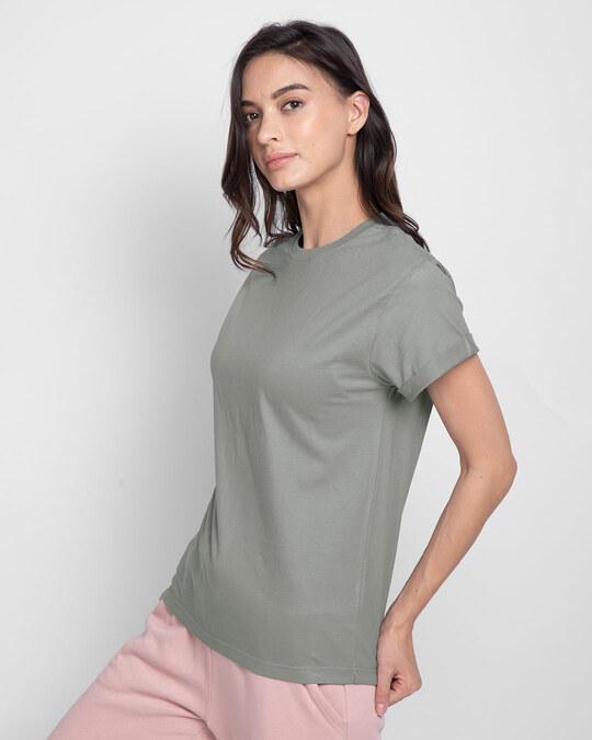Shop Meteor Grey  Boyfriend T-Shirt-Full
