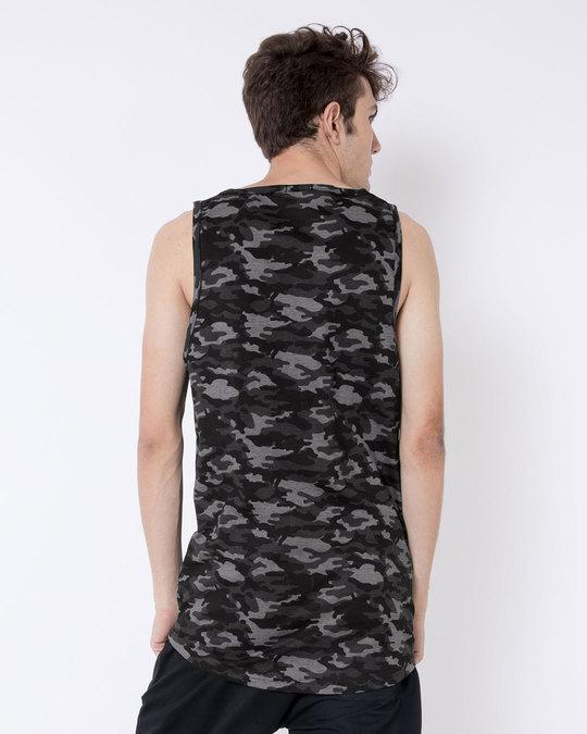 Shop Meteor Grey Camouflage Longline Vest-Full