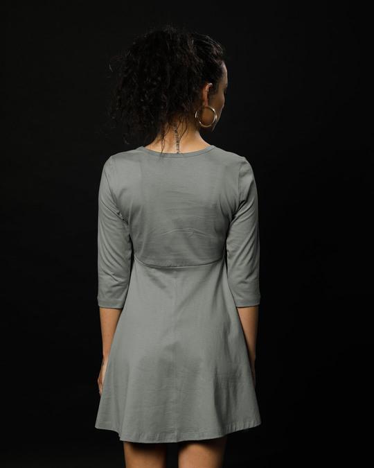 Shop Meteor Grey Flared Dress