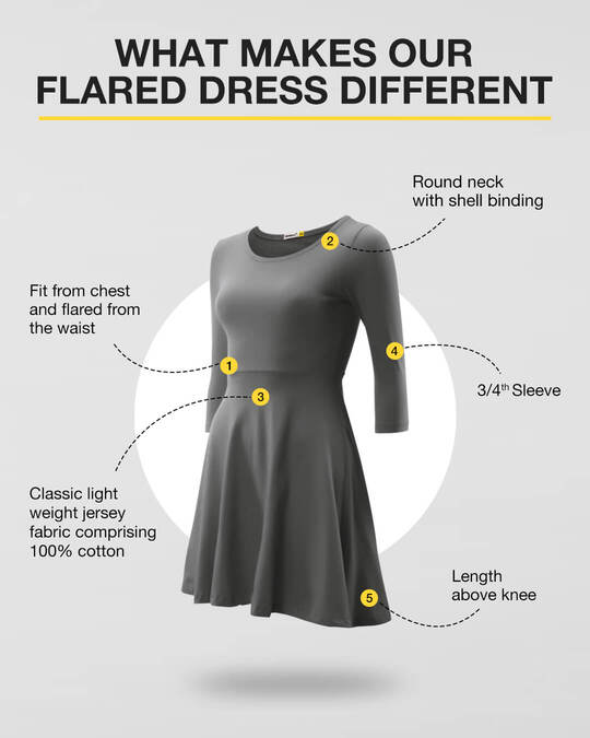 Shop Meteor Grey Flared Dress