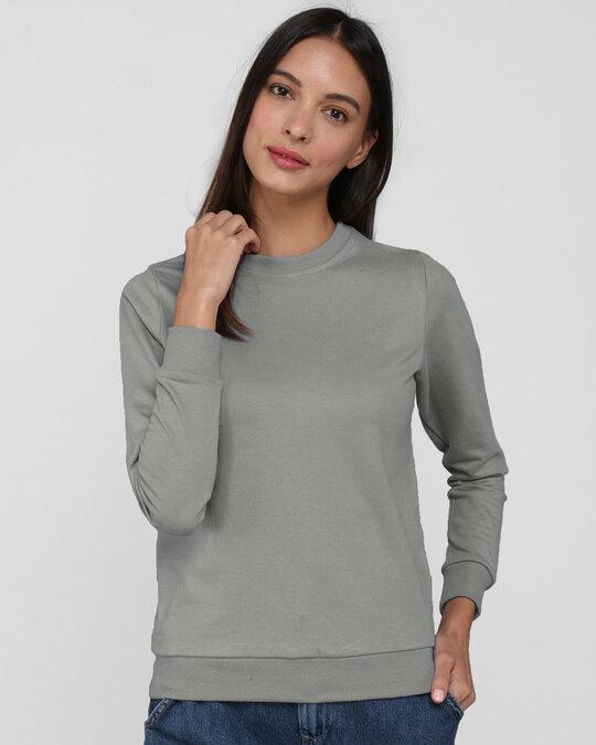 Shop Meteor Grey Fleece Light Sweatshirt-Front