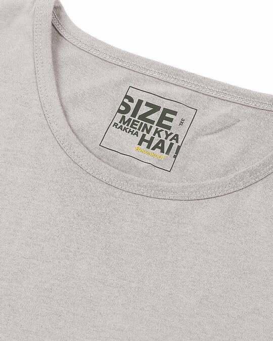 Shop Meteor Grey Full Sleeve Plus Size T-Shirt