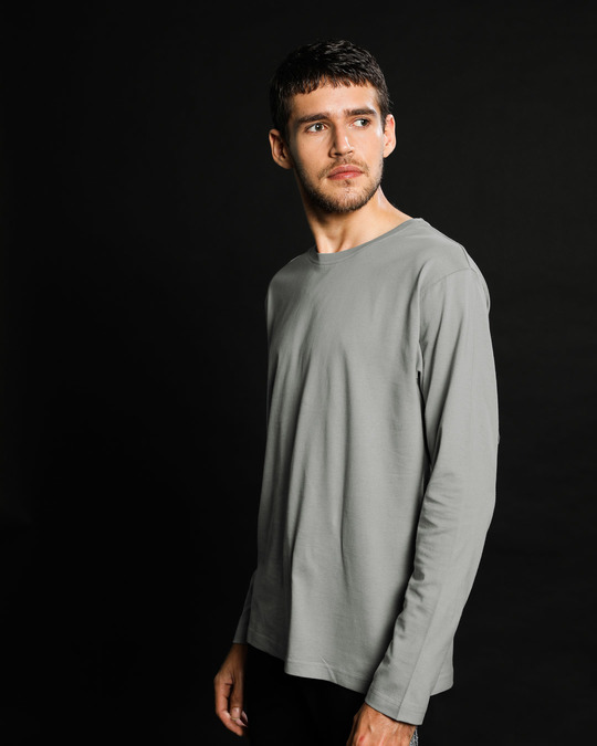 Shop Meteor Grey Full Sleeve T-Shirt-Full