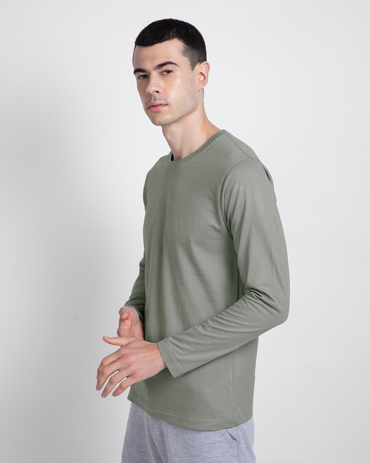 Shop Meteor Grey Full Sleeve T-Shirt-Back