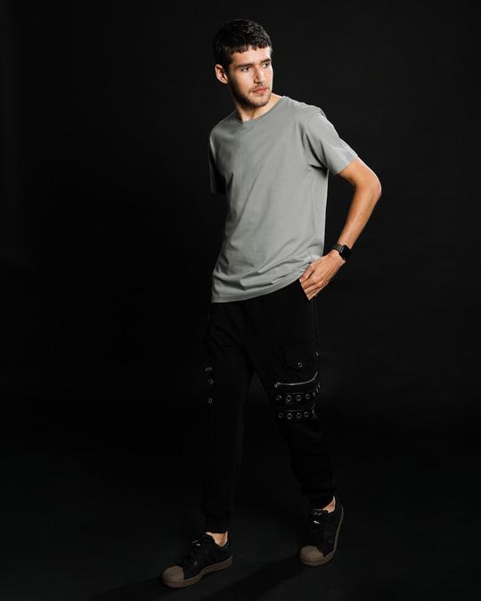 Shop Meteor Grey Half Sleeve T-Shirt