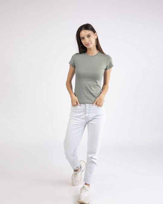 Shop Meteor Grey Half Sleeve T-Shirt-Full