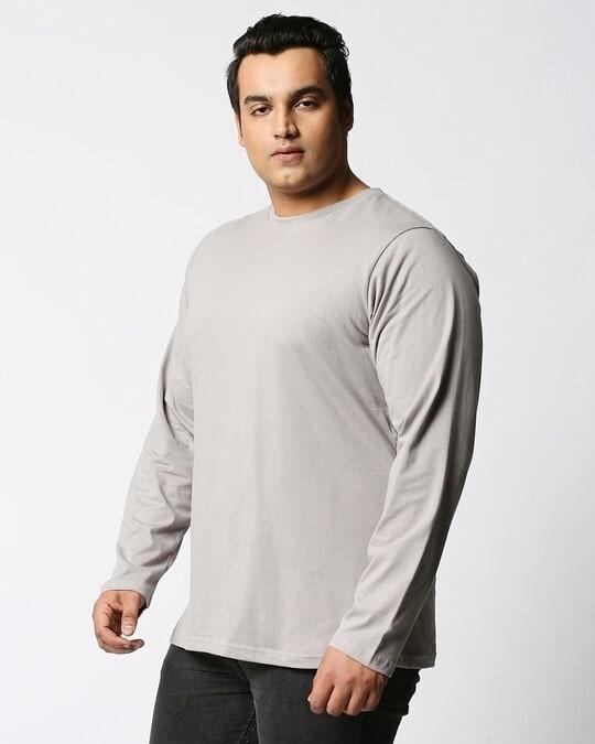 Shop Meteor Grey Plus Size Full Sleeve T-Shirt-Back