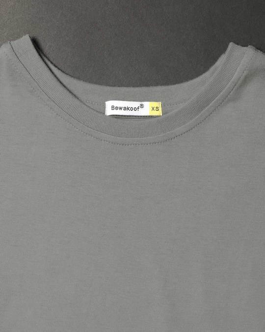 Shop Meteor Grey Round Neck 3/4th Sleeve T-Shirt