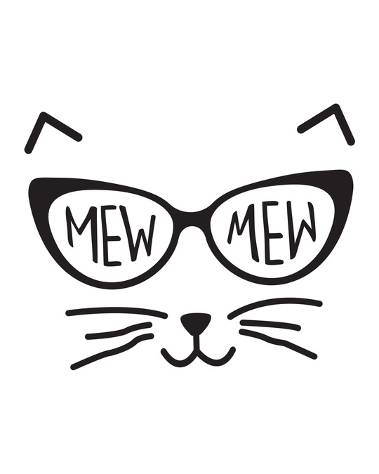 Shop Mew Mew-cat Round Neck 3/4th Sleeve T-Shirt-Full