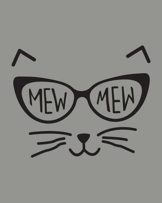 Shop Mew Mew-cat Round Neck 3/4th Sleeve T-Shirt
