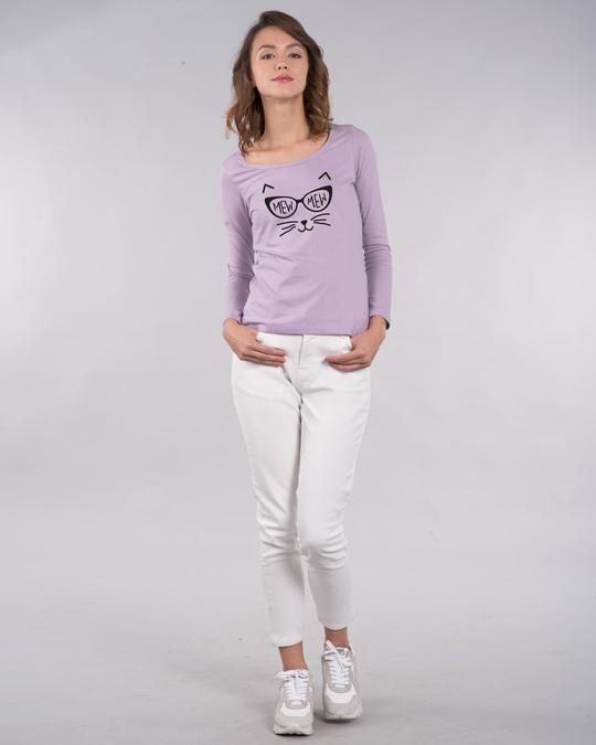 Shop Mew Mew-cat Scoop Neck Full Sleeve T-Shirt-Design