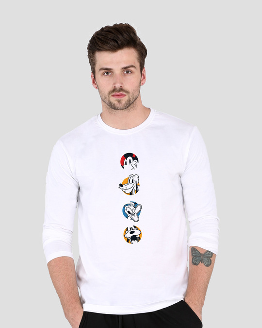 Shop Mickey And Boys Full Sleeve T-Shirt (DL)-Front