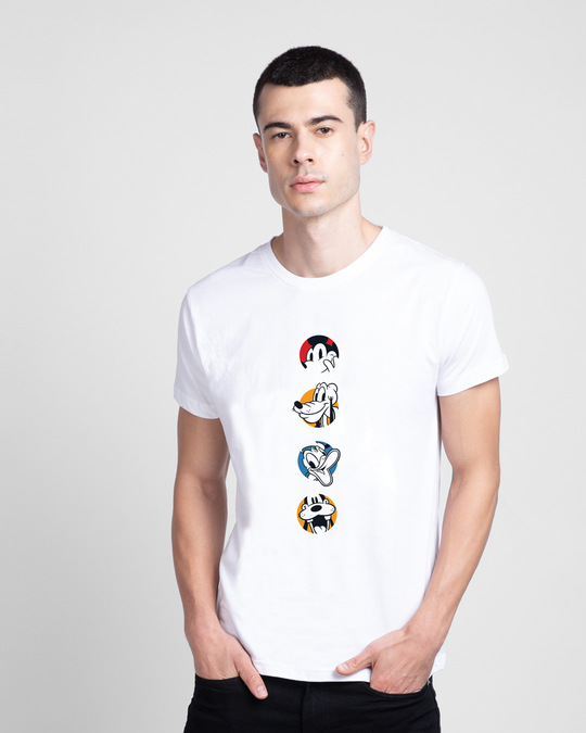Shop Mickey And Boys Half Sleeve T-Shirt (DL)-Front