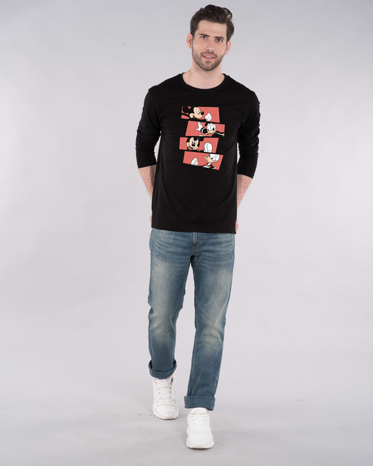Shop Mickey And Donald Stripe Full Sleeve T-Shirt (DL)-Design