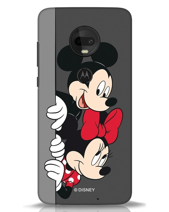 Shop Mickey And Minnie Moto G7 Mobile Cover-Front