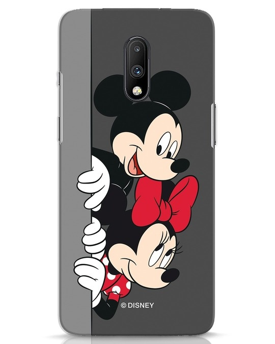 Shop Mickey And Minnie OnePlus 7 Mobile Cover-Front