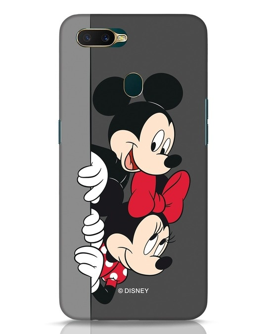 Shop Mickey And Minnie Oppo A7 Mobile Cover-Front