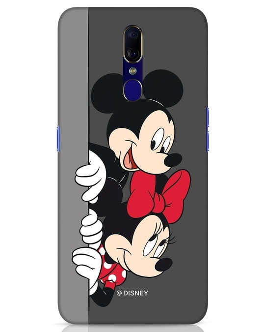 Shop Mickey And Minnie Oppo F11 Mobile Cover-Front