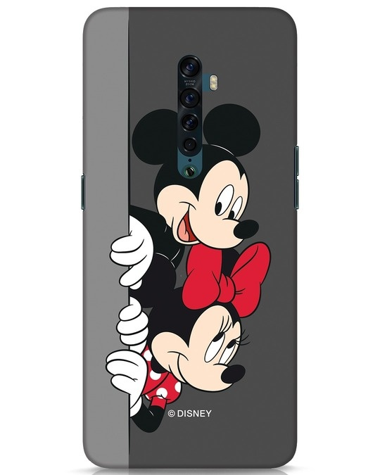 Shop Mickey And Minnie Oppo Reno 2 Mobile Cover-Front