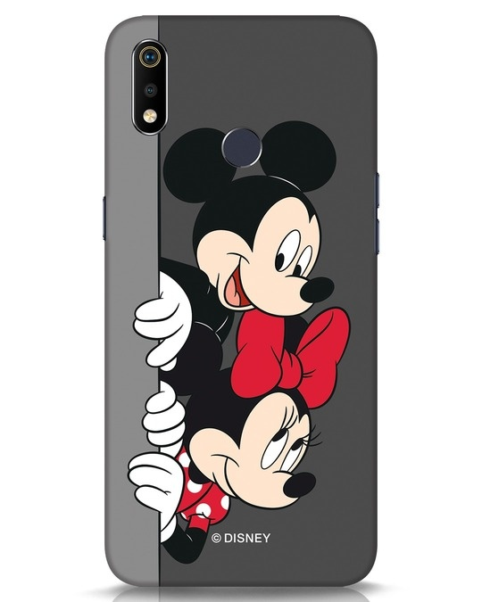 Shop Mickey And Minnie Realme 3i Mobile Cover-Front