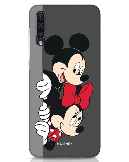 Shop Mickey And Minnie Samsung Galaxy A50 Mobile Cover-Front