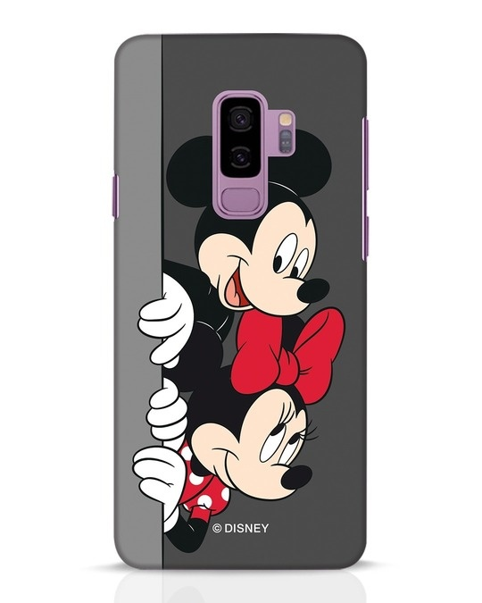Shop Mickey And Minnie Samsung Galaxy S9 Plus Mobile Cover-Front