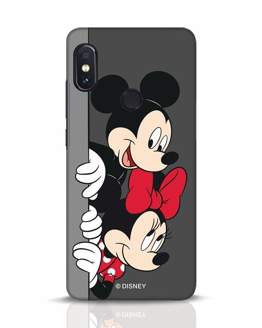 Shop Mickey And Minnie Xiaomi Redmi Note 5 Pro Mobile Cover-Front