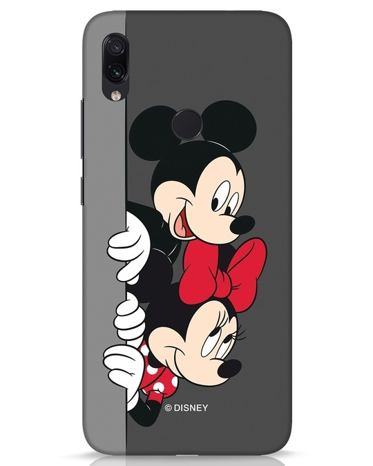 Shop Mickey And Minnie Xiaomi Redmi Note 7s Mobile Cover-Front