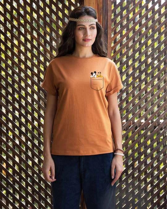 Shop Mickey And Pluto Boyfriend T-Shirt (DL)-Full