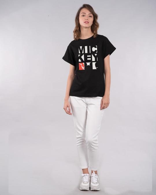Shop Mickey Blocks Boyfriend T-Shirt (DL)