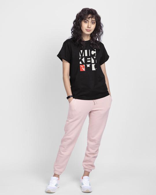 Shop Mickey Blocks Boyfriend T-Shirt (DL)-Full