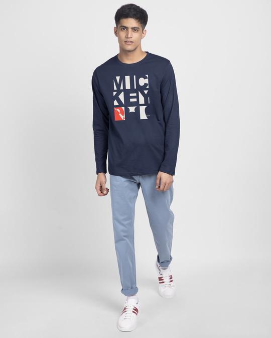 Shop Mickey Blocks Full Sleeve T-Shirt (DL)-Design