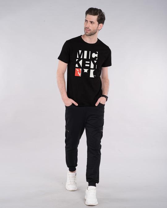 Shop Mickey Blocks Half Sleeve T-Shirt (DL)-Design