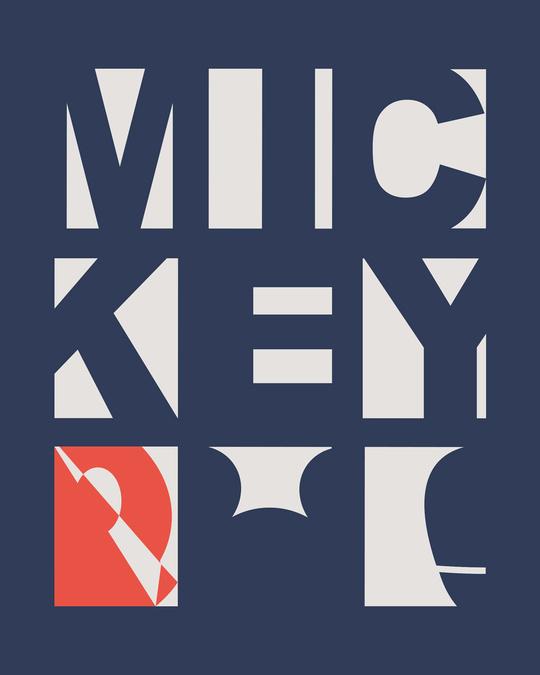 Shop Mickey Blocks Half Sleeve T-Shirt (DL)