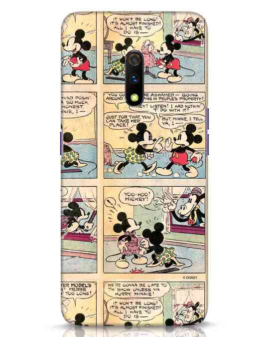 Shop Mickey Comic Realme X Mobile Cover (DL)-Front